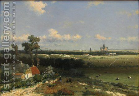 View of Haarlem by Jan Hendrik Weissenbruch - Reproduction Oil Painting