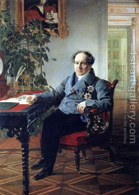 Portrait of a member of the State Council of the book A. N. Holytsyna by Karl Briullov - Reproduction Oil Painting