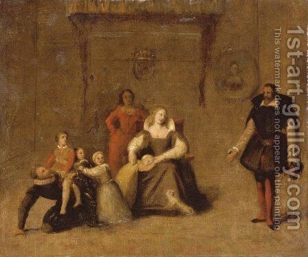 Henry IV Playing with His Children 2 by Jean Auguste Dominique Ingres - Reproduction Oil Painting