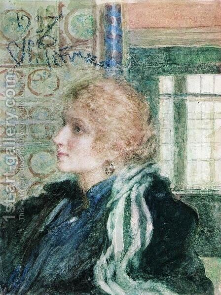 Portrait of Maria Klopushina by Ilya Efimovich Efimovich Repin - Reproduction Oil Painting
