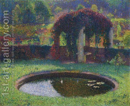 Pergola in the South West Park by Henri Martin - Reproduction Oil Painting