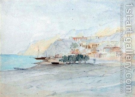 Bagnara Calabra by Edward Lear - Reproduction Oil Painting
