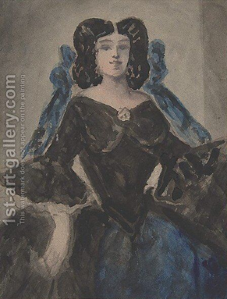 Portrait of a Lady by Constantin Guys - Reproduction Oil Painting