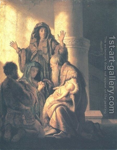 Presentation in the Temple by Rembrandt - Reproduction Oil Painting