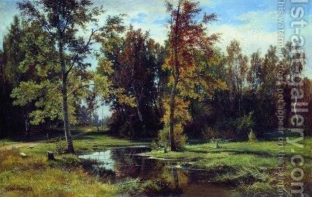 Birch forest by Ivan Shishkin - Reproduction Oil Painting