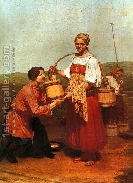 Meeting at the Well by Aleksei Gavrilovich Venetsianov - Reproduction Oil Painting