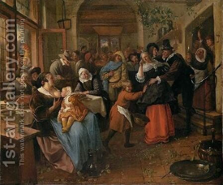 Cheated groom by Jan Steen - Reproduction Oil Painting