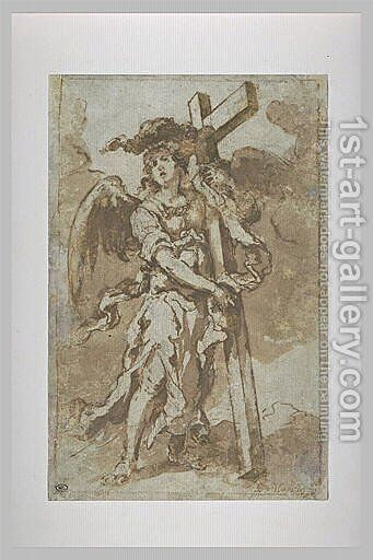 Angel Carrying the Cross by Bartolome Esteban Murillo - Reproduction Oil Painting