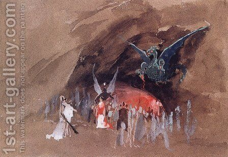 In the dragon cave by Andrei Petrovich Ryabushkin - Reproduction Oil Painting