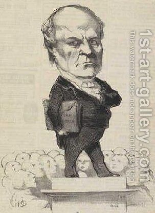 Odilon Barrot by Honoré Daumier - Reproduction Oil Painting