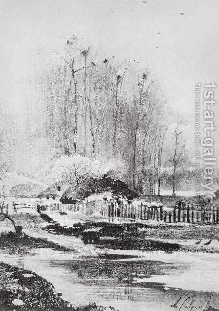 Strongly melts by Alexei Kondratyevich Savrasov - Reproduction Oil Painting