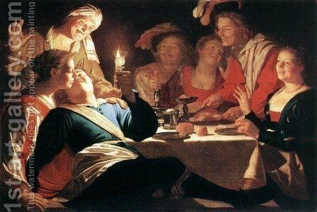 The Prodigal Son 1622 by Gerrit Van Honthorst - Reproduction Oil Painting