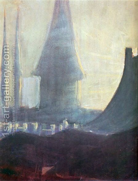 My road (III) by Mikolajus Ciurlionis - Reproduction Oil Painting