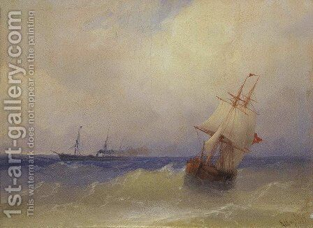 Sea 6 by Ivan Konstantinovich Aivazovsky - Reproduction Oil Painting