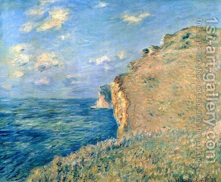 Cliff at Fecamp by Claude Oscar Monet - Reproduction Oil Painting