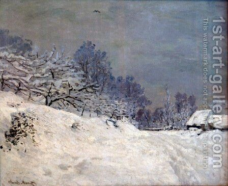 The Road in front of Saint-Simeon Farm in Winter by Claude Oscar Monet - Reproduction Oil Painting