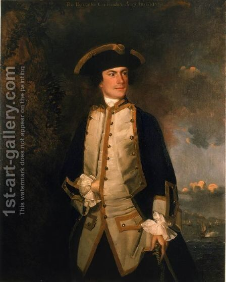 Commodore the Honourable Augustus Keppel by Sir Joshua Reynolds - Reproduction Oil Painting