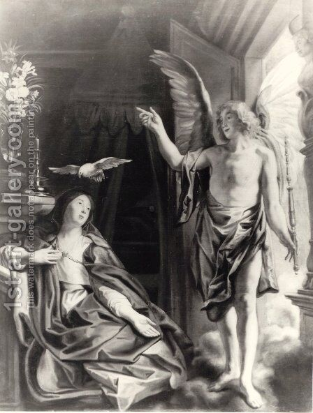 The Annunciation by Jacob Jordaens - Reproduction Oil Painting