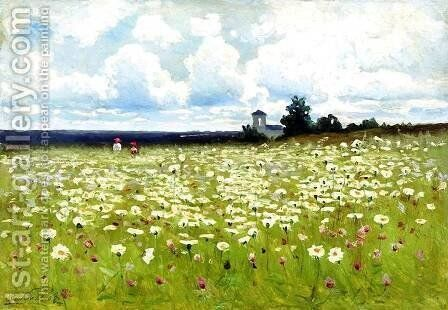 Field of Daisies by Efim Efimovich Volkov - Reproduction Oil Painting