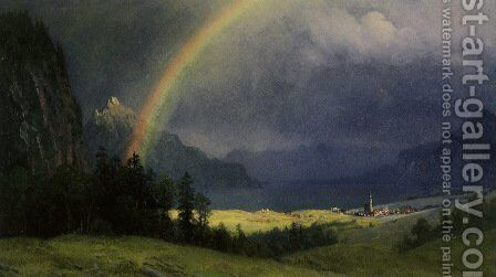 After The Shower by Albert Bierstadt - Reproduction Oil Painting