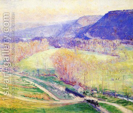 The Valley of the Seine by Guy Rose - Reproduction Oil Painting