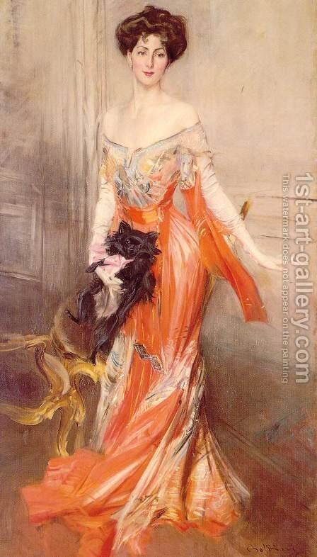 Portrait of Elizabeth Wharton Drexel by Giovanni Boldini - Reproduction Oil Painting