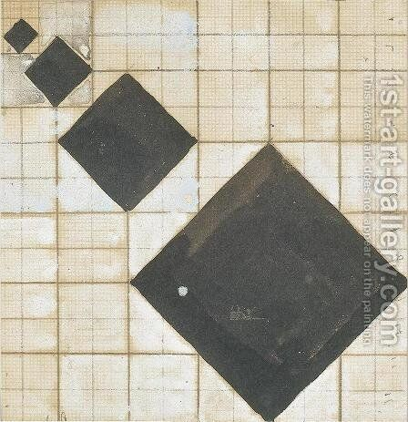 Arithmetic composition 2 by Theo van Doesburg - Reproduction Oil Painting