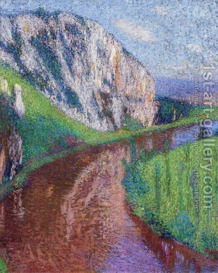 The Lot at St. Cirq-Lapopie 2 by Henri Martin - Reproduction Oil Painting
