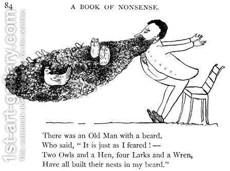 A Book of Nonsense by Edward Lear - Reproduction Oil Painting