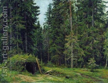 Forest hut by Ivan Shishkin - Reproduction Oil Painting