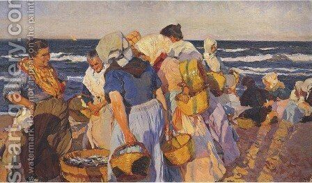 Fisherwomen by Joaquin Sorolla y Bastida - Reproduction Oil Painting