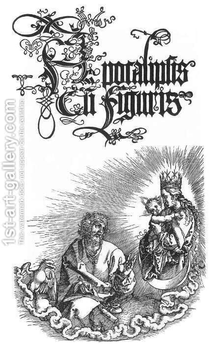 Title page to the second Latin Edition of 1511 by Albrecht Durer - Reproduction Oil Painting
