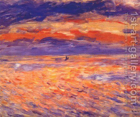 Sunset at sea by Pierre Auguste Renoir - Reproduction Oil Painting