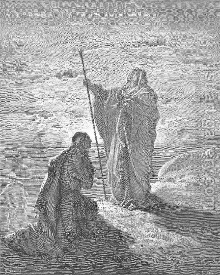 Samuel Blesses Saul by Gustave Dore - Reproduction Oil Painting