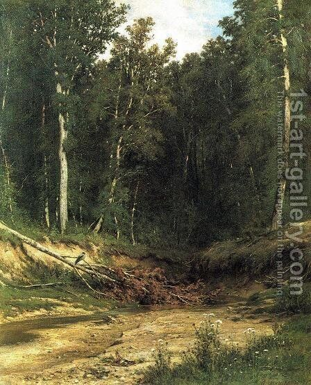 Forest Stream 9 by Ivan Shishkin - Reproduction Oil Painting
