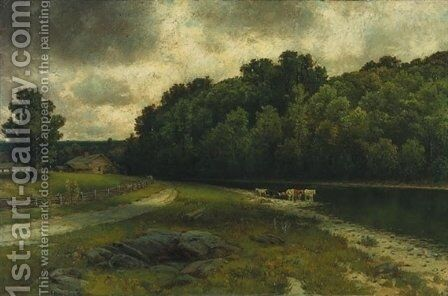 On the Grand River at Doon by Homer Watson - Reproduction Oil Painting