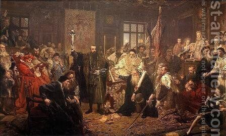 The Union of Lublin by Jan Matejko - Reproduction Oil Painting