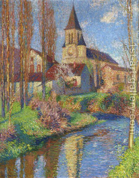 Church in Labastide du Vert 3 by Henri Martin - Reproduction Oil Painting