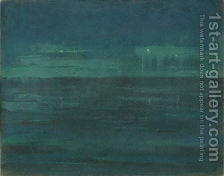 Sea at night by Mikolajus Ciurlionis - Reproduction Oil Painting
