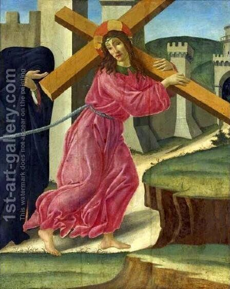 Christ Carrying the Cross by Sandro Botticelli (Alessandro Filipepi) - Reproduction Oil Painting