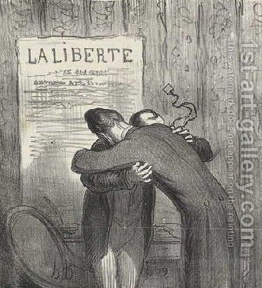 And these two major debris consoled them by Honoré Daumier - Reproduction Oil Painting