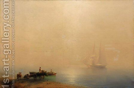 Misty morning by Ivan Konstantinovich Aivazovsky - Reproduction Oil Painting