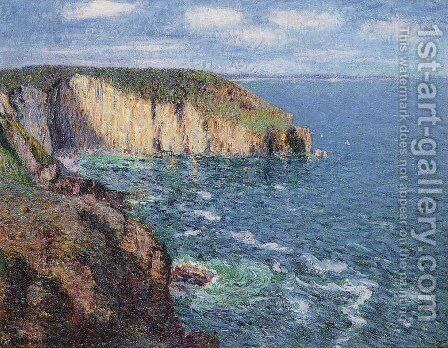 Cliffs at Cape Frehel by Gustave Loiseau - Reproduction Oil Painting