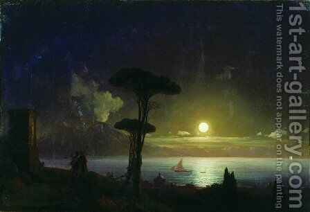 Night by Ivan Konstantinovich Aivazovsky - Reproduction Oil Painting