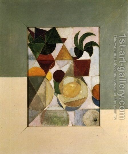 Composition III (Still life) by Theo van Doesburg - Reproduction Oil Painting