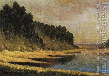 Wooded banks of the Moskva River by Alexei Kondratyevich Savrasov - Reproduction Oil Painting
