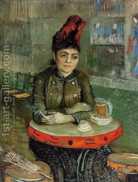 Woman in the 'Cafe Tambourin' by Vincent Van Gogh - Reproduction Oil Painting