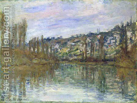 The Seine near Vetheuil by Claude Oscar Monet - Reproduction Oil Painting