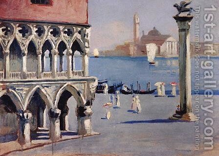 Venice. Quay Grand Canal with views of the island of San Giorgio by Boris Kustodiev - Reproduction Oil Painting