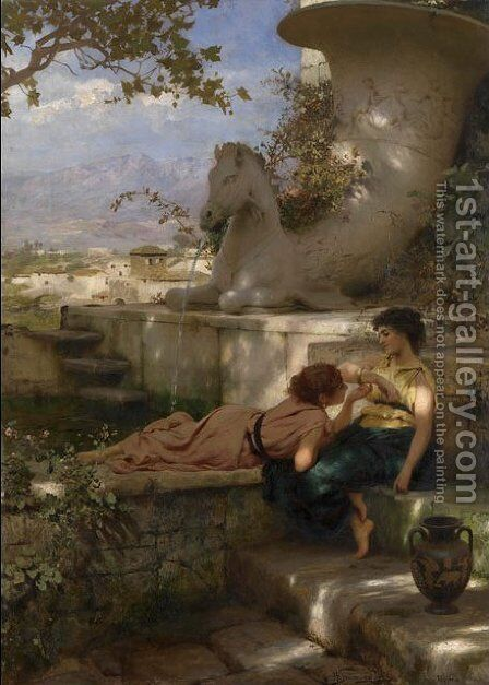 The New Bracelet by Henryk Hector Siemiradzki - Reproduction Oil Painting